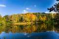 Autumn landscape of lake Royalty Free Stock Image
