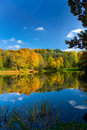 Autumn landscape of lake Stock Images