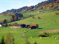 Autumn landscape in switzerland view of an Stock Photography
