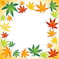 Autumn leafs border vector illustration of Royalty Free Stock Images