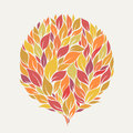 Autumn leaves abstract ball of stylized Stock Photography