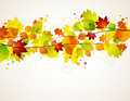 Autumn leaves background with space for text Stock Image