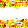 Autumn leaves background with space for text Royalty Free Stock Photography