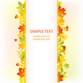 Autumn leaves background. vector banner Royalty Free Stock Photos