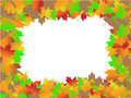 Autumn Leaves Border Stock Images