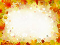 Autumn leaves border for your text. Stock Photography