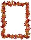 Autumn Leaves design frame photo Royalty Free Stock Photo