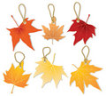 Autumn leaves with discount Stock Image