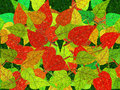 Autumn leaves expressionist illustration for a variety of uses Stock Photography