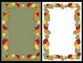 Autumn leaves frames Stock Image