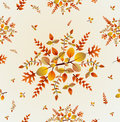 Autumn leaves seamless pattern background eps f fall bouquet and vector file organized in layers for easy editing Royalty Free Stock Image