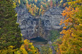 Autumn leaves at Taughannock Falls in rural New York Royalty Free Stock Photo