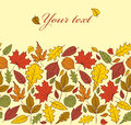 Autumn leaves vector illustration of seamless pattern with Stock Image