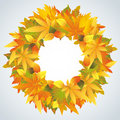 Autumn leaves wreath  Stock Image