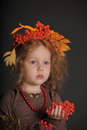 Autumn little red-haired princess