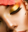 Autumn Makeup Closeup Royalty Free Stock Photos