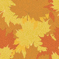 Autumn maple leaves background seamless Stock Photos