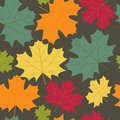 Autumn maple leaves background vector Stock Image