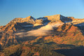 Autumn morning in the wasatch mountains fog usa Stock Images