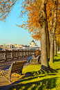 Autumn moscow beautiful city landscape of the center of Royalty Free Stock Photos