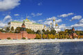 Autumn moscow the kremlin moscow river russia Royalty Free Stock Images