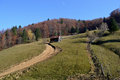 Autumn on mountain paths Royalty Free Stock Photo