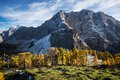 Autumn mt mojstrovka from sleme plateau in october Royalty Free Stock Photos