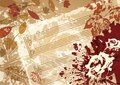 Autumn music vector background retro style frame