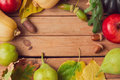 Autumn nature background with fall fruits, pumpkin and leaves Royalty Free Stock Photo