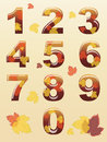 Autumn numbers Stock Photos