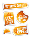 Autumn offer stickers. Royalty Free Stock Photo
