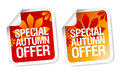 Autumn offer stickers. Royalty Free Stock Photography