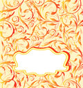 Autumn orange background, seamless floral texture Stock Photography