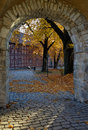 Autumn in oslo castle middle age scenen Stock Photo
