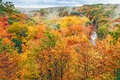 Autumn overlook vibrant fall foliage color is on display at an in ohio s cuyahoga valley national park Stock Photo