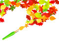 Autumn paintbrush Royalty Free Stock Photography