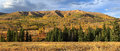 Autumn panorama in the wasatch mountains morning usa Stock Photography