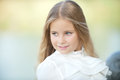 Autumn in the park portrait of a beautiful girl outdoor Royalty Free Stock Image