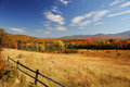 Autumn pasture in colorful mountain and forest Royalty Free Stock Photo