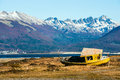 Autumn in Patagonia. Tierra del Fuego, Beagle Channel Royalty Free Stock Photo