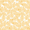 Autumn pattern from leaves. Vector illustration. Seamless background. Royalty Free Stock Photo