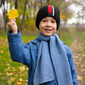 Autumn portrait of boy Royalty Free Stock Photos
