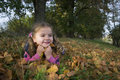 Autumn portrait of small girl Royalty Free Stock Photography