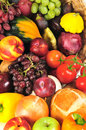 Autumn produce background Stock Photo