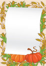 Autumn and pumpkin background Royalty Free Stock Image