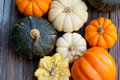 Autumn pumpkins Stock Photo
