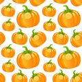 Autumn pumpkins seamless pattern a autumnal with on white background useful also as design element for texture or gift wrapping Stock Image