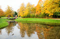Autumn in Pushkin Stock Photography