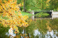 Autumn in Pushkin, Saint-Petersburg Royalty Free Stock Photos