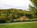 Autumn. Riverfront. Krasnoyarsk Territory. Zelenogorsk Royalty Free Stock Photo